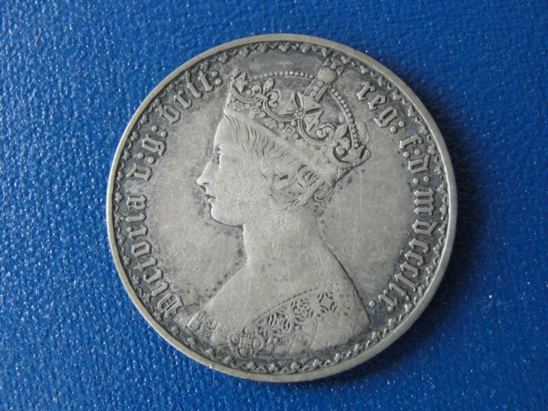 1859 GREAT BRITAIN HALF CROWN MID GRADE RARE THIS NICE! COIN BETTER DATE