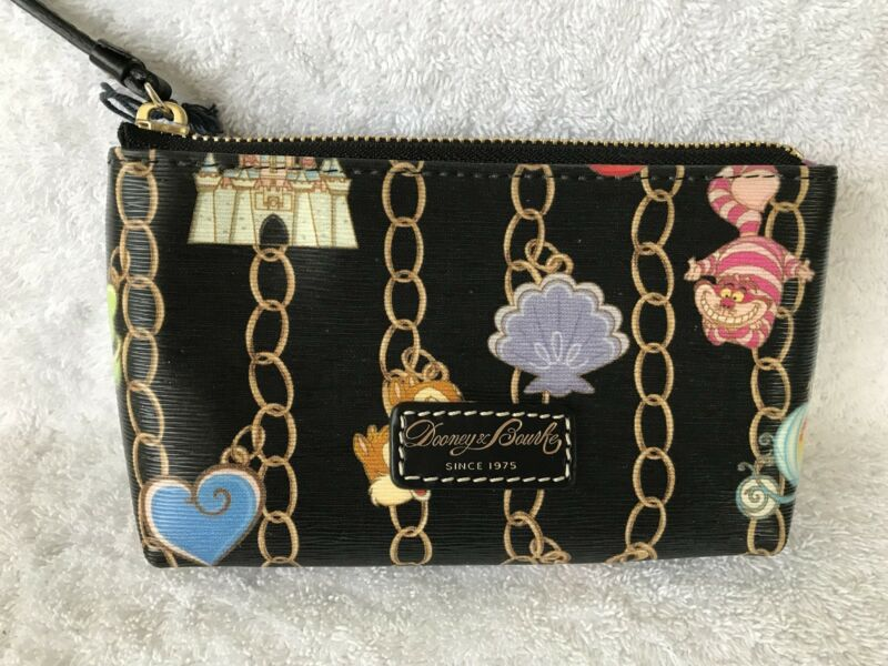 Disney Dooney and & Bourke Black Charms Cosmetic Bag Cheshire Castle Carriage