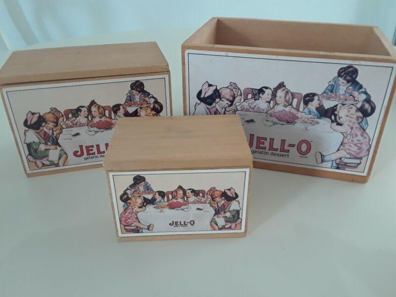 Vintage Jello-O Gelatin Wooden Nesting Boxes