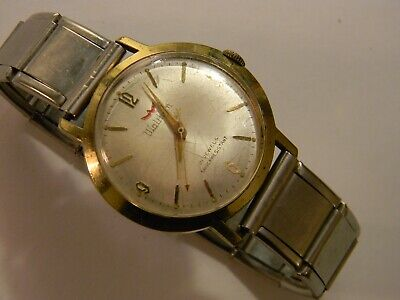 VINTAGE WALTHAM 21 JEWELS GOLD PLATED STAINLESS MENS WATCH - RUNS WELL
