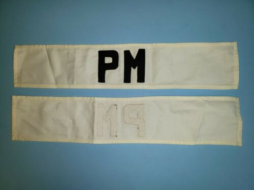 K1113 Indochina France Armband Police Militaire PM Military Police L3C