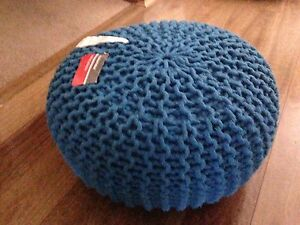 Blue knitted pouffe Bomaderry Nowra-Bomaderry Preview
