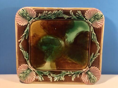 Platter Antique Majolica Shell & Seaweed Platter c.1800's