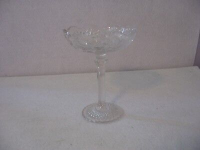 Vintage Pressed Glass Clear Compote