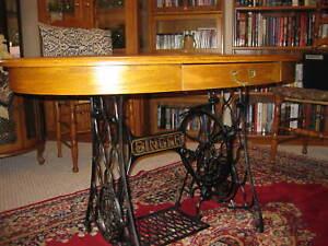 Singer Base Oak Table