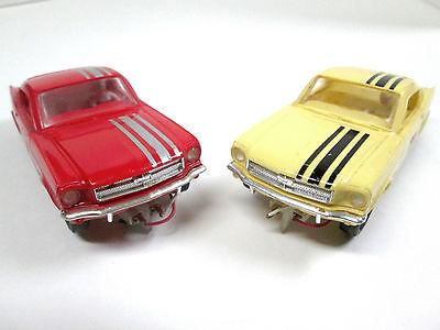 Vintage 1965 Aurora T Jet Slot Cars 1/32 Scale Mustangs