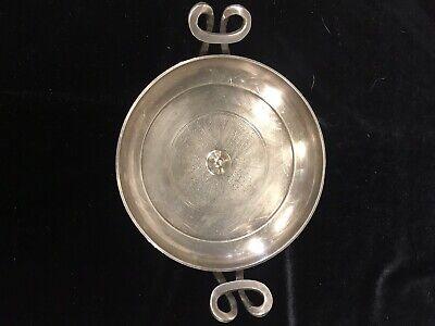 Met Music Of Art Greek Kylix Silver Bowl/ 2 Handles