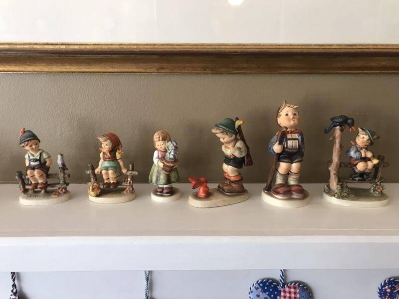 Collection of 6 vintage Hummels