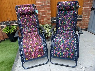 Mountain Warehouse 2 x Limited Edition Multi Colour Feather Reclining Chairs