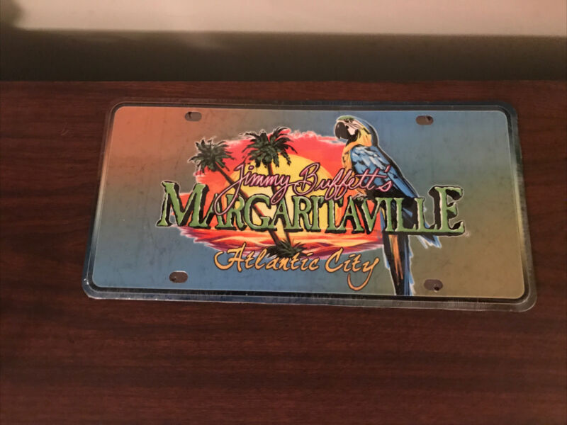 Jimmy Buffett Metal Margaritaville Booster License Plate
