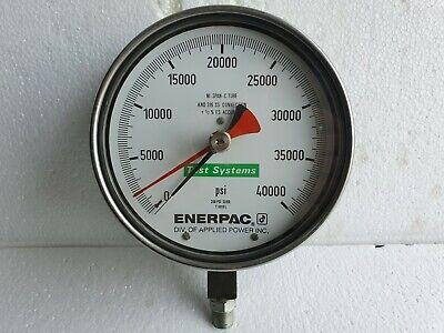 Enerpac T6010l Test System Gauge 40000 Psi Pressure Gauge Stainless Steel 6-12
