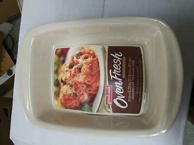 E  Bradshaw Good Cook 2.5 Qt. red Ceramic Baking Dish dishwasher safe 04408 Good Cook Ceramic