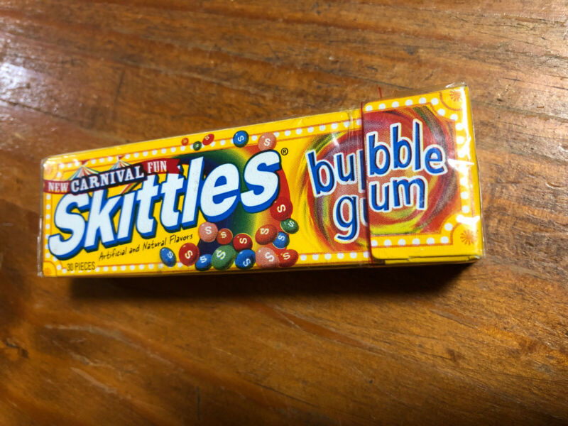 Extremely Rare Skittles Carnival Bubble Gum Brand New Sealed