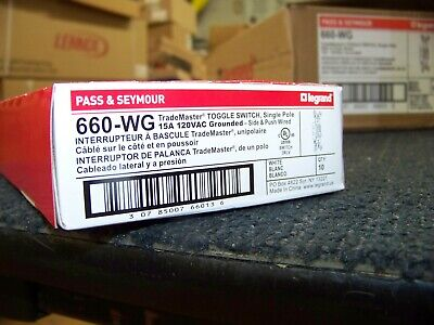 Legrand Pass Seymour Trade Master Toggle Switch Single Pole 100 Each
