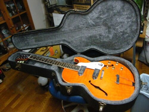 Epiphone SORRENTO ORANGE Hollow Body Archtop Electric Guitar Vintage 1970's