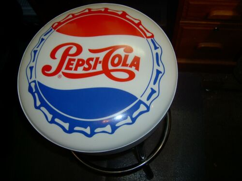 PEPSI - COLA - SWIVEL - BOTTLE CAP - BAR STOOL