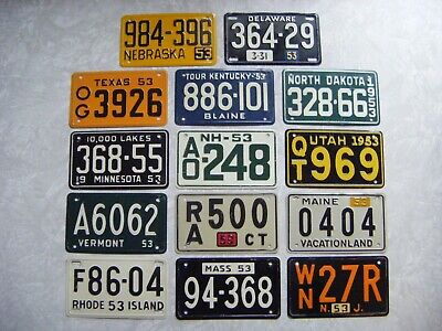 1970 POST HONEYCOMB CEREAL MINI BICYCLE LICENSE PLATE You Choose 1