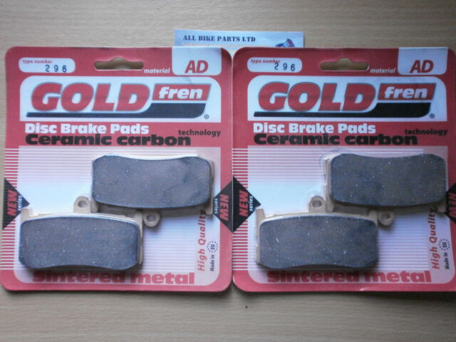 GOLDFREN FRONT BRAKE PADS (2x Sets) for: TRIUMPH 675 DAYTONA . (AD296) (FA491HH)