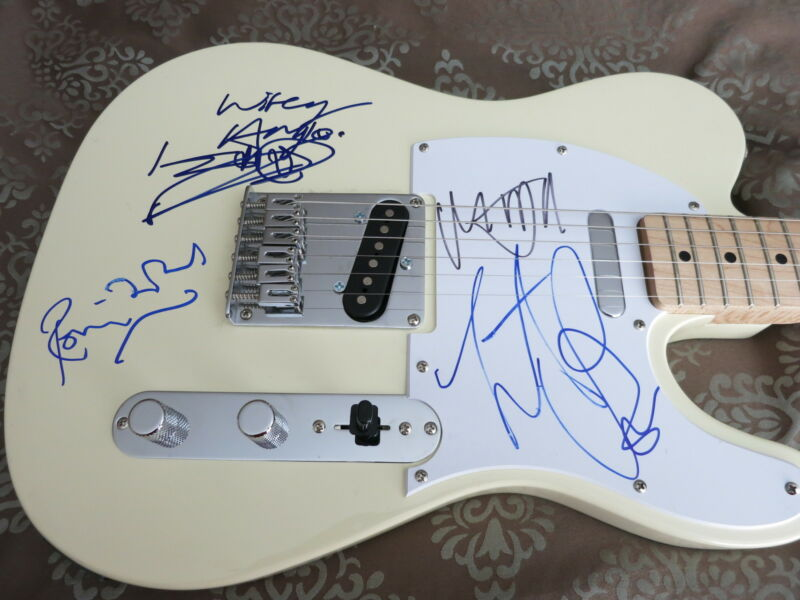 ROLLING STONES SIGNED GUITAR BY 4 ACOA + EXACT PROOF! MICK JAGGER KEITH RICHARDS