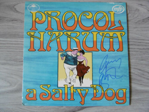 "Gary Brooker Autogramm signed LP-Cover ""Procol Harum - A Salty Dog"" Vinyl"