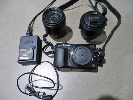 1 Panasonic Lumix DMC- GX7 mirror less camera with accessories