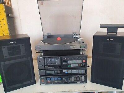 VINTAGE RARE SONY STEREO Hi-Fi SYSTEM LBT-V10 RECORD TUNER AMPLIFIER SPEAKERS
