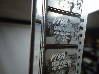 35mm Viva Elia Kazan Movie Trailer VS