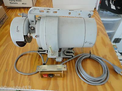 Atlas 12 Hp 1 Phase 4 Pole Industrial Sewing Clutch Motor With Switch Mount