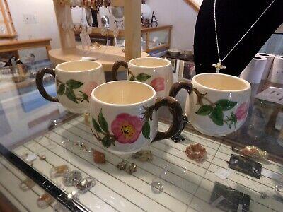 4 USA DESERT ROSE SMALL MUG CUPS FRANCISCAN WARE COFFEE TEA HOT CHOCOLATE