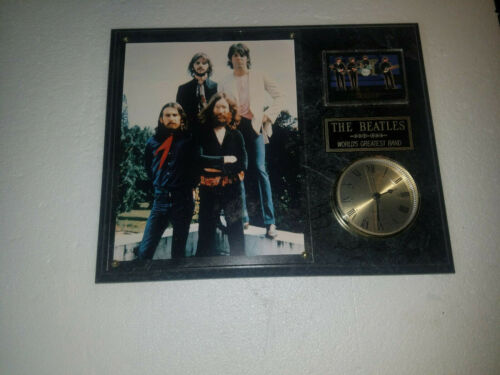 BEATLES  FRAMED 8X10 ART PRINT/PHOTO-12X15 WALL PLAQUE With Clock