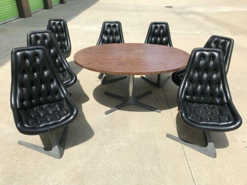 Mid Century Modern Star Trek Chromcraft Sculpta Unicorn Dining Set w/ 7 chairs
