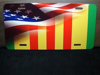 Vietnam Veteran Cinta Bandera Americana Metal Novedad Matrícula para Coches