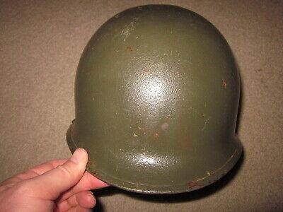 Vintage Korean War era US Army steel helmet with liner !!!