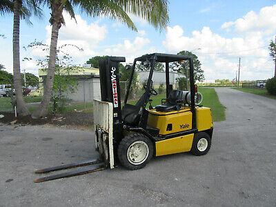 Glp060 6000 Lb Yale Forklift Propane Side Shift - Lift 182 1656 Hrs Pneumatic