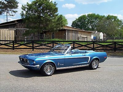 Gorgeous Restored 1968 Ford Mustang Convertible GT Options Low Miles Show & Go!!