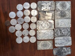 Chinese antiques (Coins and metal plates)