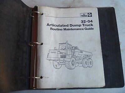 Terex 32-04 Articulated Dump Truck Owner Operator Maintenance Manual