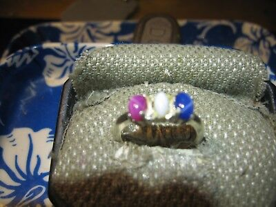 All American Linde Star Sapphire Ring 925 Sterling Silver 7 5