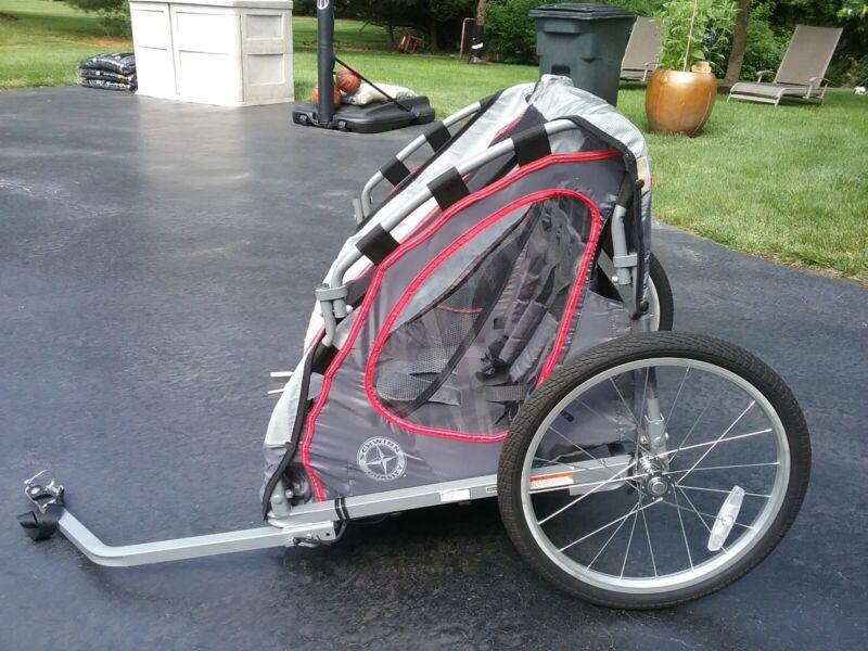 Bicycle trailer kids -Schwinn Zap Two Seat Bicycle Trailer