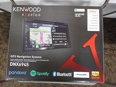KENWOOD EXCELON DNX694S GPS NAVIGATION SYSTEM ANDROID AUTO HD RADIO BLUETOOTH