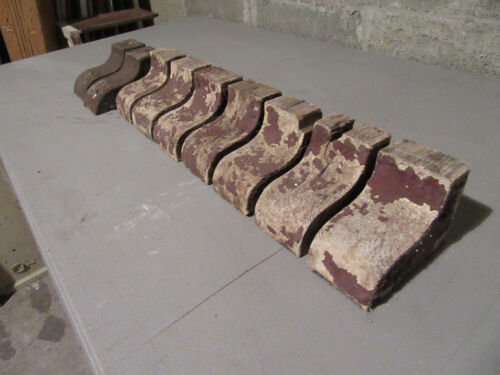 ~ LOT OF 9 SMALL ANTIQUE CORBELS 5 TALL ~ ARCHITECTURAL SALVAGE