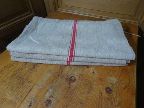 Antique European Feed Sack Red Stripe # 9646