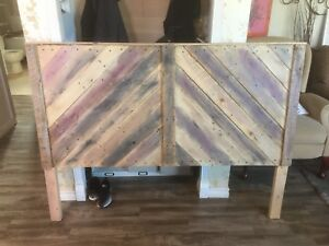 Rustic headboards from reclaimed wood