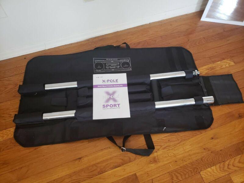 (NEW) X-Pole Sport Pole (Static, Chrome, 45mm - full set w/ portable carry case)