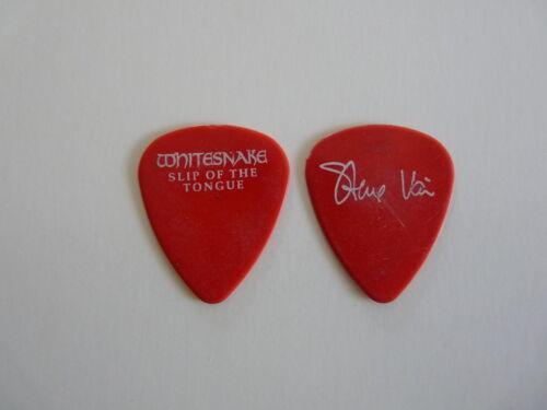 STEVE VAI WHITESNAKE SLIP OF THE TONGUE 1990 TOUR ISSUED GUITAR PICK RARE RED