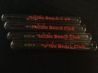 Set of 4 MALIBU BEACH CLUB Test Tube Shot Glass  - Tube Shot Glass
