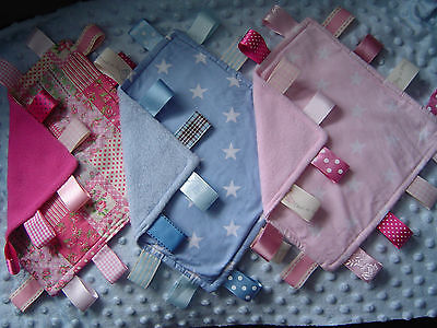 Fleece Taggy Comforters/Blankets, Cerise, Pink or