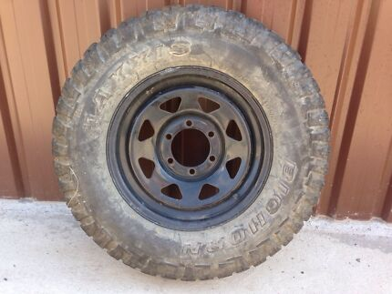 4 Toyota hilux , Nissan , Mazda , ford 4wd mud tyres and wheels Bankstown Bankstown Area Preview