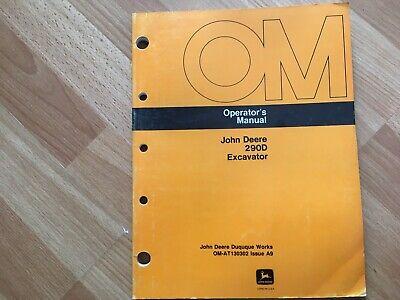John Deere 290d Excavator Factory Operators Manual Oem