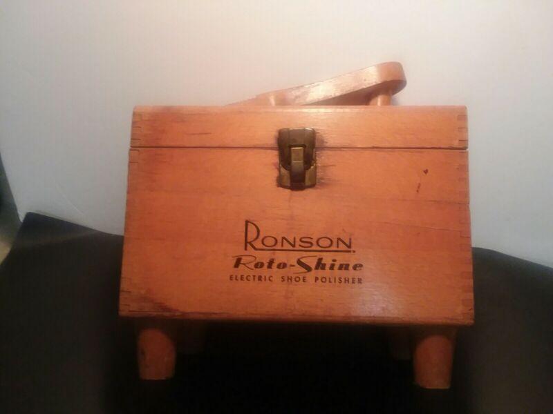 "Vintage Ronson Roto Shine ""Electric Shoe Polisher"" Dovetail Shine Box. Box only."